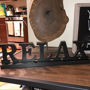 Relax Sign Decor